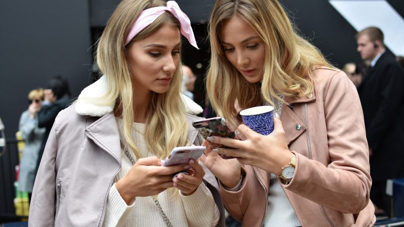 Social Media engagement on a mobile phone